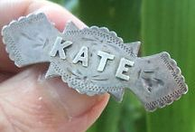 Name Brooches & Pins - Vintage Jewelry & Bracelets / Antique and Victorian Jewelry - Pins and Brooches with names and initials.