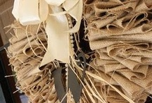 burlap wreaths / by burlap projects