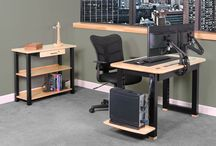 Loft Series - Apartment and Condo Desks / Loft Series Desks are compact desks that feature cable management, integrated power and lots of accessories. These desks are perfect for apartments and condominiums.