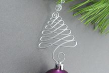 Beaded wire ornaments