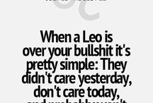 Its a Leo thing...