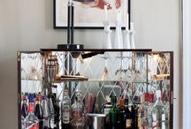Home Bar Ideas / Drinks cabinets and bars for dinner parties
