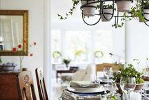 Ruokailuhuone / Sisustusta, järjestystä, kauniita ratkaisuja,