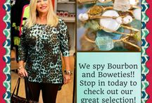 Bourbon and Boweties / We are loving the sweet, southern made bracelets!!!