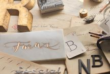 Typography, lettering and calligraphy