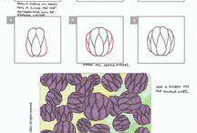A) tangle patterns