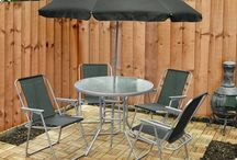 Set Funiture Garden Outdoor 6 Piece Chairs Table Umbrella Deck Patio Porch Yard