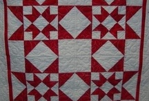 Red and white quilts