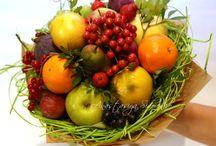 ovocné, zeleninové a klobasové kytice