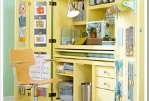 Craft closet! / craft supply art closet organization and design home decor and interiors room inspiration