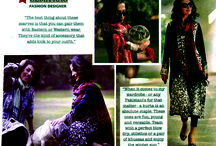 """Getting Dressed with Gul Ahmed"" / The Sunday Magazine of the leading Pakistani broad sheet published a special two page feature titled ""Getting Dressed with Gul Ahmed""  Huma Amir Shah, Uzma Rao and Zahra Raza wearing different outfits by Gul Ahmed and exhibiting different looks."
