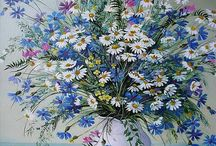 Fleurs - peinture