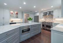 Contemporary White & Gray Kitchen in Roswell, Ga
