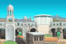 Sonic Unleashed Mobile / Official artwork from the mobile version of Sonic Unleashed including level background images.  More info on this game at http://sonicscene.net/sonic-unleashed