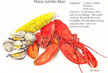 Food Images for Maine Clambake Mysteries / These are food images I collect to inspire me when I'm writing the Maine Clambake Mystery Series. The books are Clammed Up, Boiled Over and Musseled Out ( Coming May 2015).