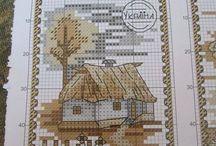 Cross stitch landscape