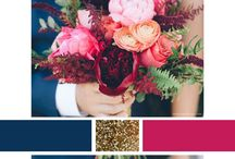 Wedding - Navy, Rapsberry, Gold... / Wedding - Colours: Navy, Rapsberry, Gold...