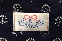 Dilians Logo / Markenprodukte aus Blaudruck
