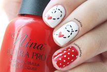 Valentins day nails