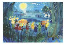 Jahreszeitentisch Postkarten