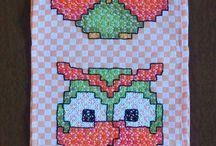 bordado tecido xadrez