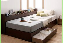 Saving space Japanese wooden tatami bed style storage bed