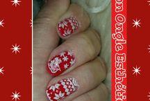 Xmas nails by salon ongle esthétique
