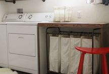 Outdoor laundry area