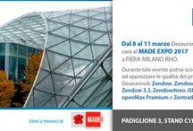 Deceuninck al MADEexpo 2017 / Dall'8 al 11 marzo Deceuninck Italia sarà al MADE EXPO a FIERA MILANO RHO, padiglione 3 - stand C11-D20. Durante tale evento potrai scoprire ed apprezzare le qualità dei prodotti Deceuninck: Zendow, Zendow Light, Zendow 3.3, Zendow#neo, iSlide#neo, openMax Premium e Zentrada. #Deceuninck #architettura #design #PVC #porte #finestre #scorrevoli #BestInClass