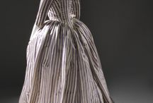 Projects: Striped robe à l'Anglaise / Striped robe à l'Anglaise