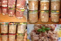 Naložené, sterilované maso....