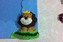 Portafoto giungla / Portafoto in feltro e animali in pannolenci.. Tutti tagliati e cucito a mano
