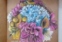 My art. Watercolor. Acrylic. Pastel. Paints.