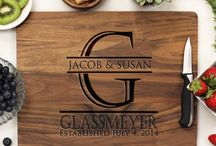 Personalized  Walnut Cutting Boards / Beautiful Personalized Custom Walnut Cutting Boards.