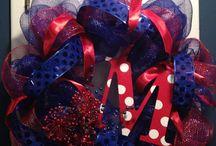 Sports  / Sports Custom, Hand Made Wreaths by Tangled Wreaths™ ~ Home Decor  https://www.facebook.com/TangledWreaths