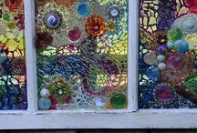 upcycled windows / by Barb Ward