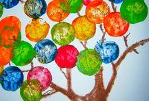 drzewko malowame balonami