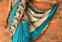 KALAMKARI Exclusive / Original Handpainted Kalamkari work on stylish sarees, contemporary blouses and lyrical lehengas!