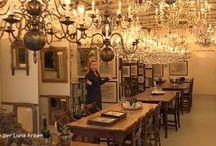Antieke kroonluchters bij Lans Antiek / Antieke verlichting, spiegels en prenten bij Van der Lans Antiek in Bussum