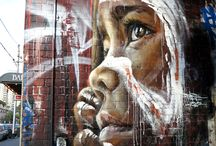 Street art by Adnate in Melbourne, Australia