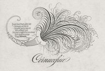 Calligraphy & Lettering / Various examples, and inspirational pins of hand lettering and calligraphy  / by Charles Barest