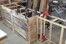 A HS DIY COUNTER OF PALLETS