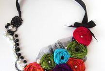 Fabric/Ribbons/ Wool jewelry idea