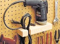 WORKSHOP AND GARAGE IDEAS / Storage ideas and tools  / by David Brown