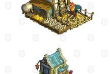 Game Art - Buildings