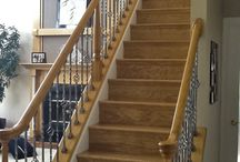 Flooring & Stairs / View Color My World Inc. designer ideas to create a beautiful stairway for your new home and match it with new hard wood flooring.