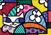 Romero britto cats