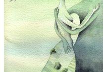 Ilustraciones besos / Illustrations kisses