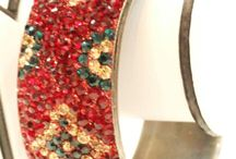 Crystal Bangles / Nice Handcrafted beautiful colors Bangles / Bracelets