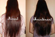 Soins cheveux longs et fins